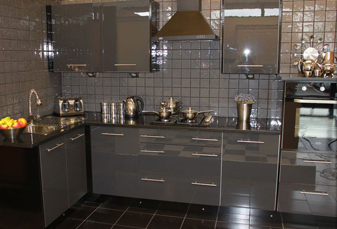 High gloss new kitchens 1 B q bathroom design service